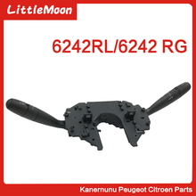 купить LittleMoon Original brand new headlight switch Turn signal switch Wiper switch for Citroen C5 6242RG 6242RL дешево