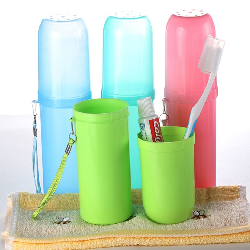 Portable Toothbrush Holder Plastic Toothpaste Towel Case Holder Travel Camping Hiking Box Organizer Bathroom Tooth Brush Cup