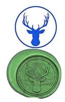 Vintage Deer Head Luxury Wax Seal Sealing Stamp Brass Peacock Metal Handle Sticks Melting Spoon Wood