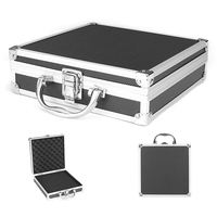 Casos de ferramenta de liga de alumínio durável esponja dentro portátil resistente organizador duro carry prático caixa armazenamento caso viagem bagagem|Estojos ferramenta| |  -