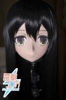 (KM8298) Top Quality Handmade Female Resin Full Head Cosplay Japanese Role Play Akagi Anime Kigurumi Mask Crossdresser Doll