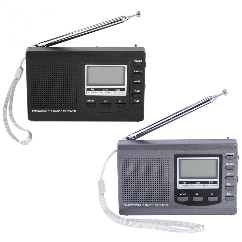 Tragbare Radio Dsp Fm/mw/sw Empfänger Notfall Radio Mit Digital Wecker Fm Radio Fm Empfänger Eingebaute Spearker Exzellente QualitäT Unterhaltungselektronik Radio