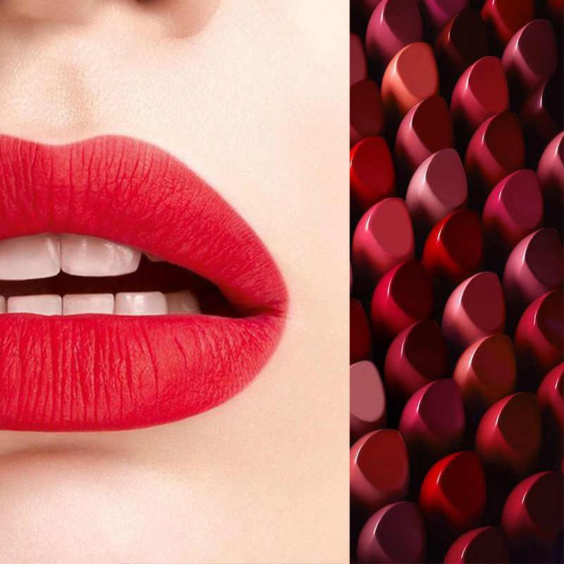 נשים 12 צבעים מט שפתון לחות לאורך זמן ללא אכזריות שפתונים JIU55