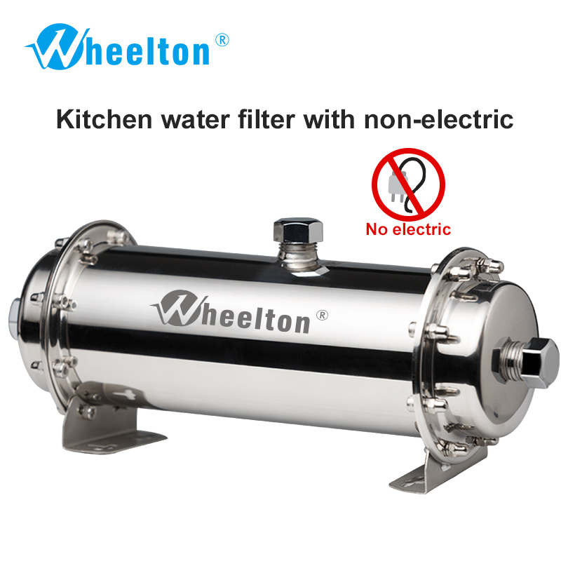 Wheelton 304 Stainless Steel Water Filter Ultrafiltration Water Purifier 380L Commercial Home Kitchen Drink Straight UF