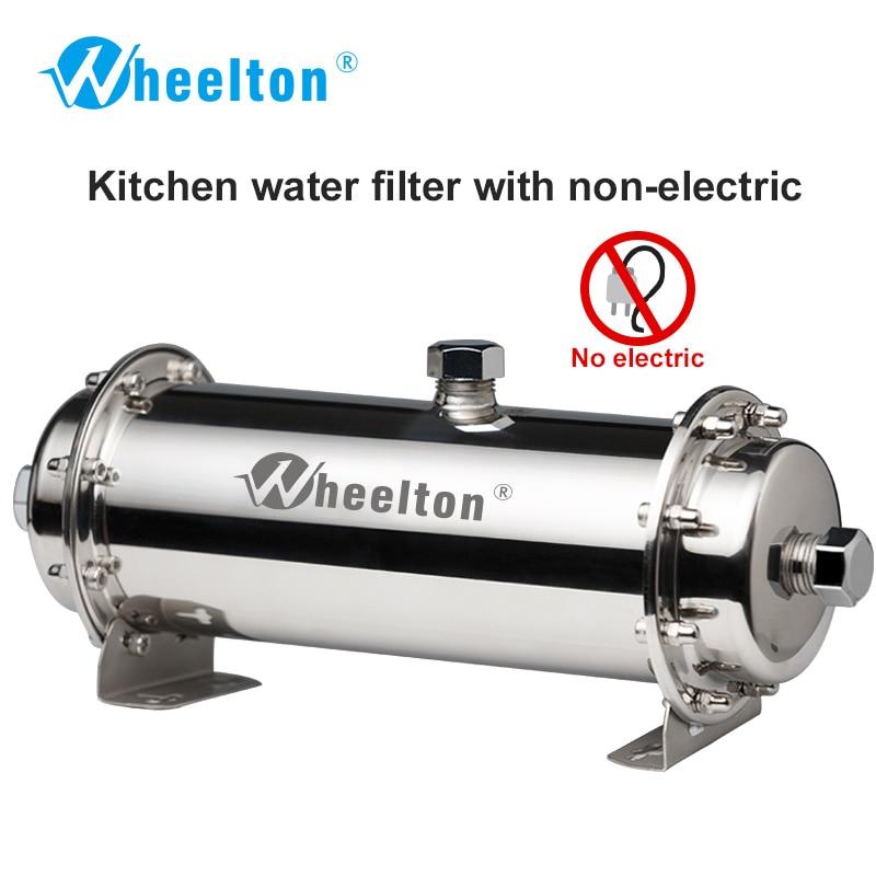 Wheelton 304 D'eau En Acier Inoxydable Filtre Ultrafiltration Purificateur D'eau, 380L, À La Maison de Commerce Cuisine Boire Directement UF Filtres