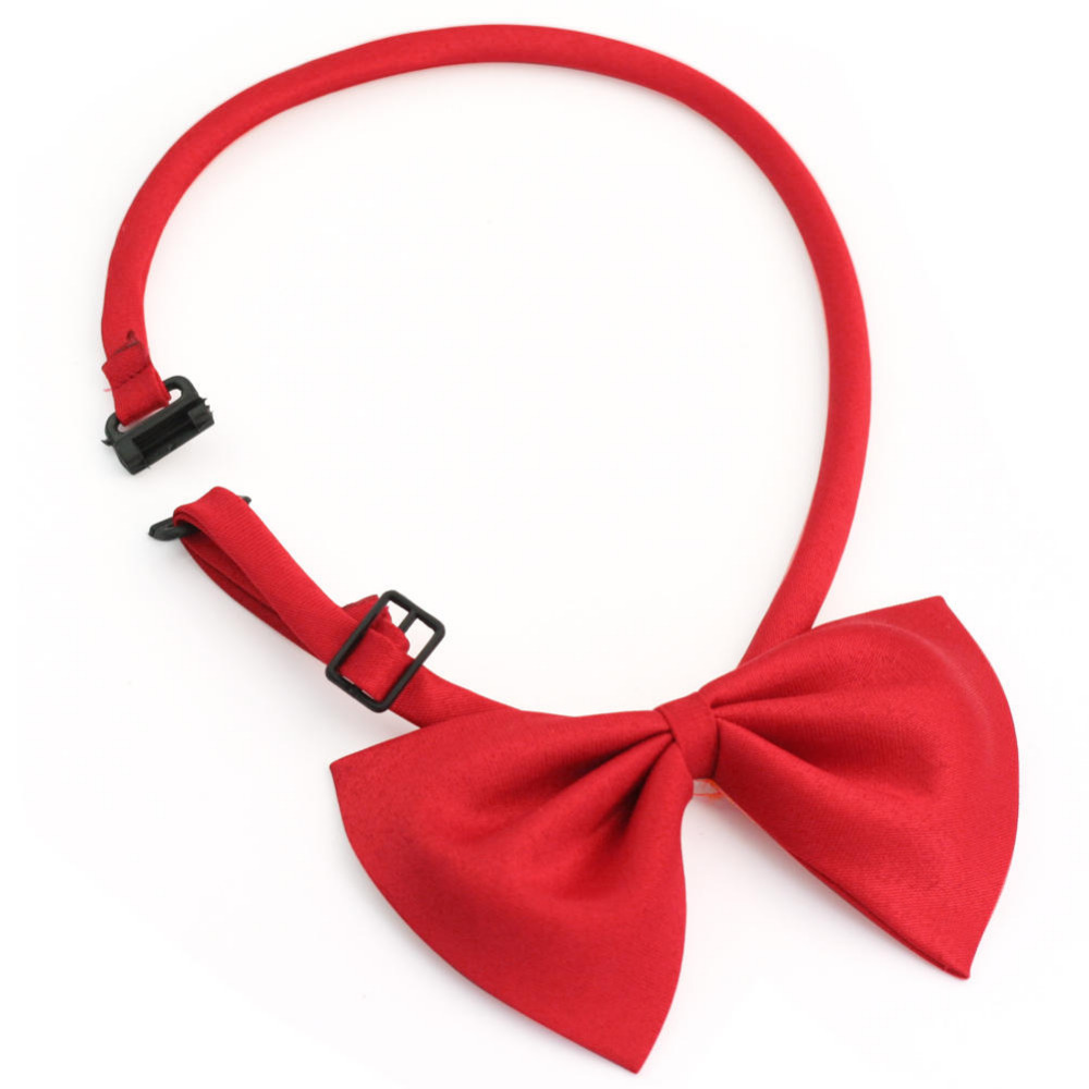 Pet Dog Cat Adjustable Bow Tie Necktie Bowtie Red Bowknot Polyester Cotton Wedding Party Grooming Accessories