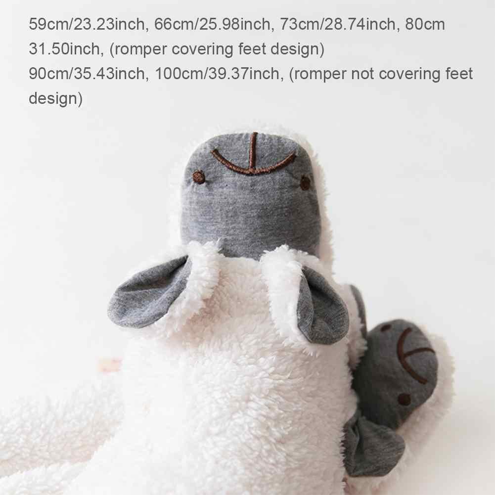 Trẻ sơ sinh Dày Yếm Mùa Đông Bé Dễ Thương Romper Cừu Quần Áo Hình Dạng Dày Bé Phim Hoạt Hình Áo Quần Bodysuit