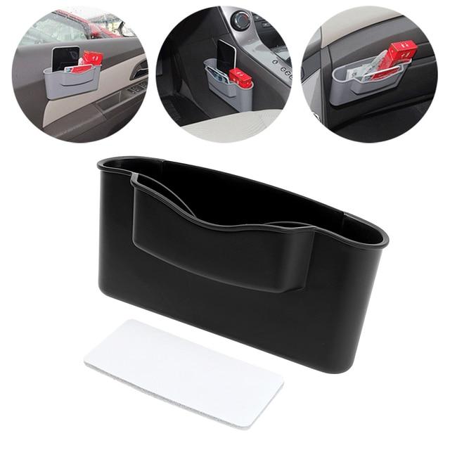 Car Door Storage Box Organizer Pocket Catch Car Seat Slit Home Auto Cigarette Phone Holder Catcher Gap Filler Multi-function