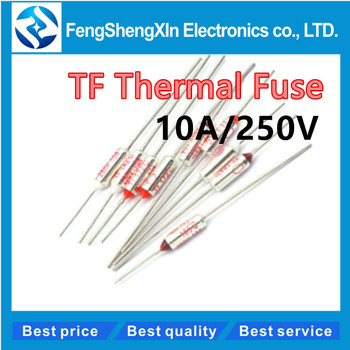 10pcs/lot TF Thermal Fuse 10A/250V RY-210/216/230/240/250/285/65/73/77/85/95/100/105/110/113/115/120/125/130/133/135 image