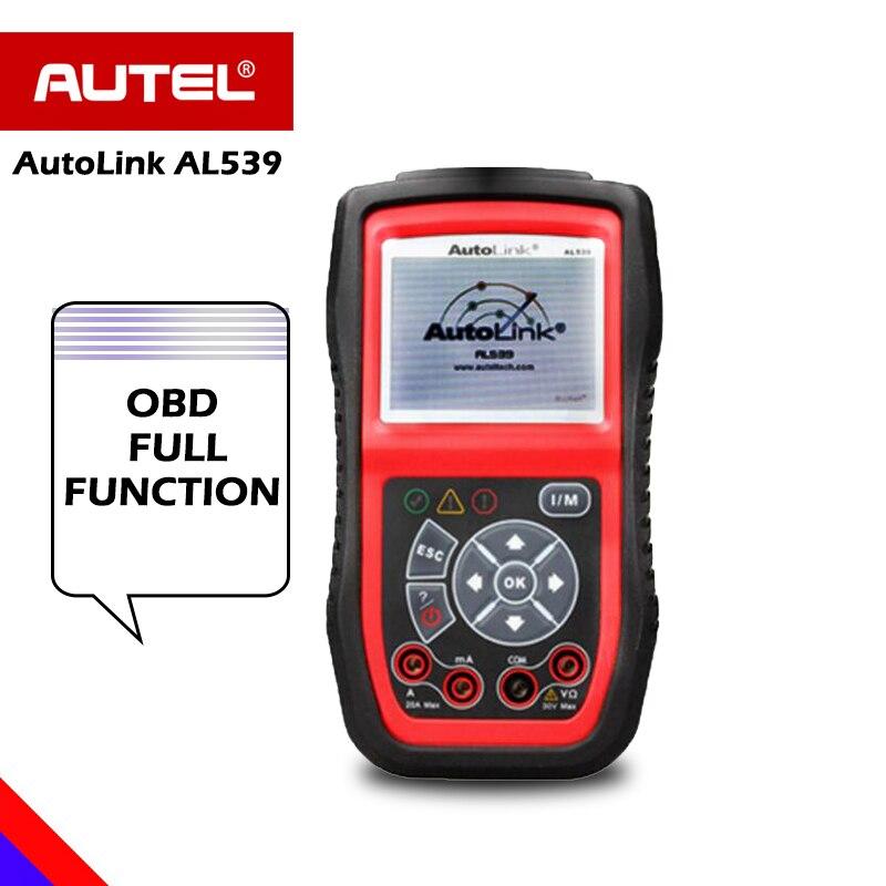 Autel AutoLink AL539 OBD2 scanner automotive Electrical Test Tool ODB2 code reader OBD 2 diagnostic tool Battery test PK al519 цены онлайн