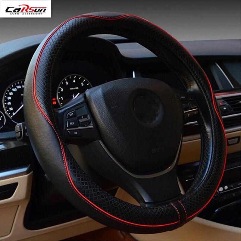 CARSUN général 38 CM en cuir beaucoup de couleurs couvre-volant ensembles de voiture pour BMW pour Audi pour Benz pour Volkswagen pour Toyota
