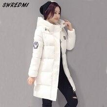 Лонг зимнее студенты толстые  куртки куртка моды женская тонкий пальто