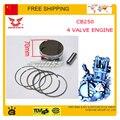 zongshen cb250 4valve ring piston pin set piston kit 70mm  xmotos apollo KAYO BSE 250cc 4 valves parts accessories free shipping