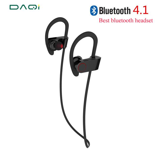 Mejor moda inalámbrico bluetooth para auriculares 4.1 auriculares estéreo a prueba de agua deportes auricular con el mic para el iphone samsung smart phone