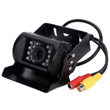 Rear View Camera For Trucks 24v 12v Black Bus Car Rear View Reversing IR Nightvision Waterproof Camera For Trucks Lorry Bus