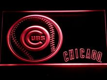 266 Chicago Cubs Baseball LED Neon Sign with On/Off Switch 7 Colors to choose