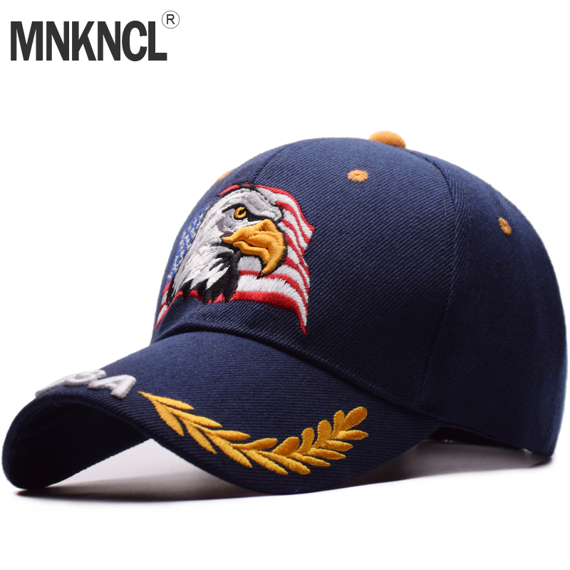 MNKNCL High Quality Spring Summer   Baseball     Cap   For Men Women Outdoor Sun Hat Eagle Embroidery USA Sports Hats Casquette   Caps