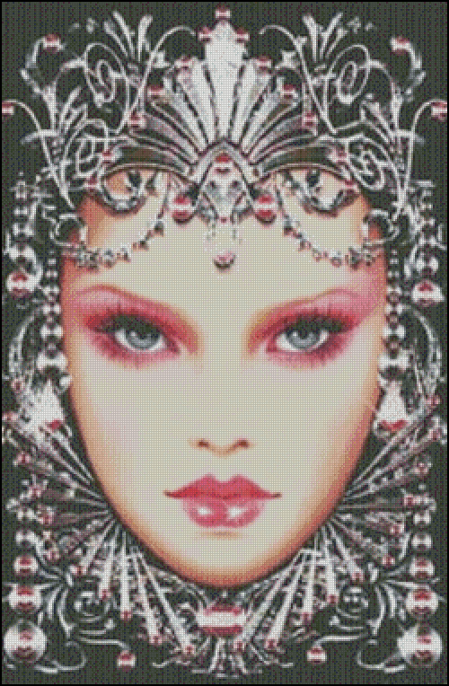 Needlework Fashion Art Beauty Queen People 14CT Canvas Embroidery DIY DMC Cross stitch kits wall Home