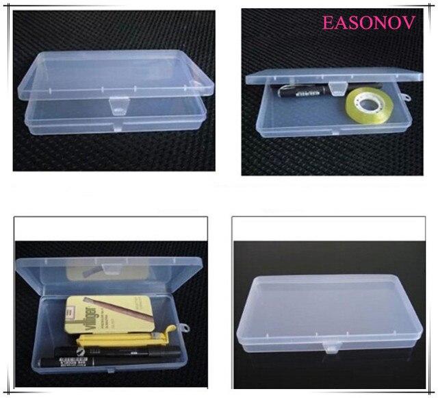 Бесплатная доставка! PP прямоугольный прозрачной коробке пластиковая коробка ювелирных изделий частей элемент небольшая коробка