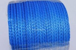 """Image 2 - Câble de treuil synthétique bleu 5mm * 100m, ligne de treuil ATV 3/16 """"Dia, corde Spectra 12 tresses, 4*4 pièces tout terrain"""