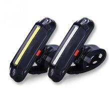 Luz trasera recargable USB de 2 colores, luz trasera Led para bicicleta, luz trasera de alta calidad