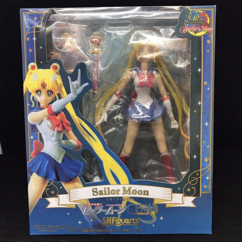 Pretty Guardian Sailor Moon Girls Tsukino Usagi SHF PVC Action Figure Figurine Resin Collection Model Toy Doll Gifts Cosplay