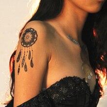 1 Piece Black Henna Lace Tattoo Stickers For Body Paint ,Flower Henna Black Lace Wedding  Waterproof Tattoos Sticker Jewelry Art