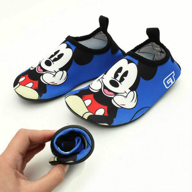 Quick Dry Children Boy Girl Shoes Cartoon Print Sport Running Anti-slip For Swimming Pool Beach Kid Toddler Infant Baby Shoe