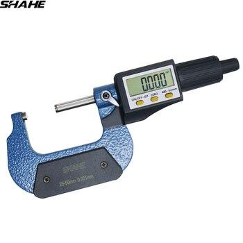 25 50 مللي متر الرقمية ميكرومتر الإلكترونية ميكرومتر 0.001 مللي متر ميكرون خارج ميكرومتر الفرجار قياس أدوات قياس-في ميكرومتر من أدوات على