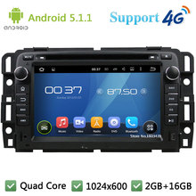 Quad Core 7″ HD 1024*600 2DIN Android 5.1.1 Car DVD Player Radio Stereo PC USB DAB+ FM BT 3G/4G WIFI GPS Map For GMC 2015-2016
