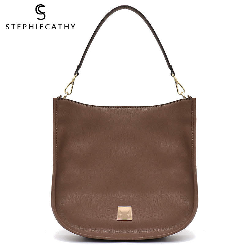 SC Luxury High Quality Real Leather Bags Women Hobo Shoulder Bag Fashion Large Genuine Leather Handbag