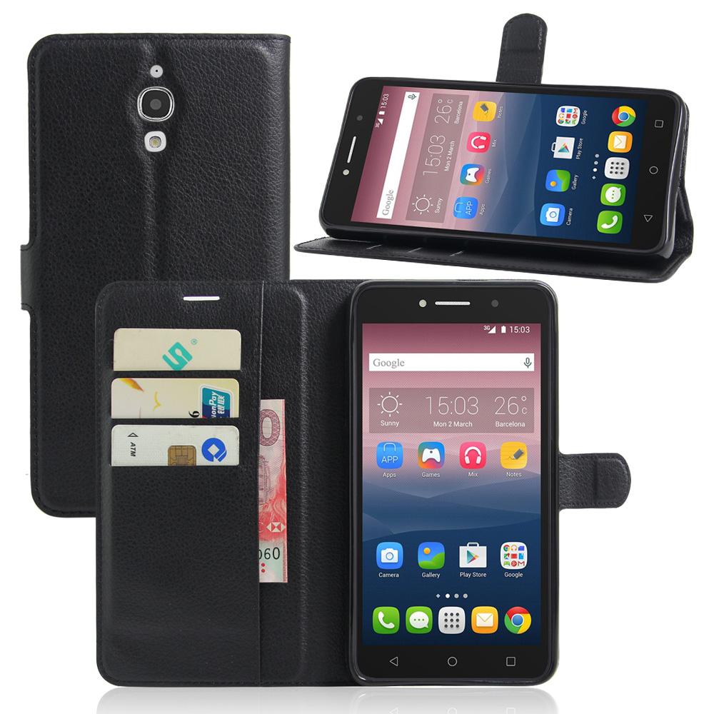 premium selection 5c366 81d3c US $3.56 13% OFF|Luxury Phone Carcasa Case For Alcatel Pixi 4 (6) 3G 8050D  Pixi4 6.0 Inch Funda Flip Cover Wallet PU Leather Bag Cases With Stand-in  ...