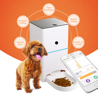 KIMHOME PET Automatic Pet Feeder For Small Medium Large Dogs Cats Video Watch Timely Quantitative Remote Feeding Dog Dishes Food