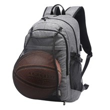 Aolikes Smart Basketball Canvas Polyester Men\'s Backpack Waterproof Travel Computer