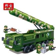 BanBao Military Army Truck Intercontinental Missile Blocks Educational Building Bricks Toy Model 6202 Boy Children Kids Gift
