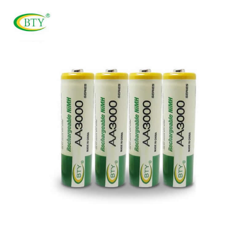 BTY 3000 AA Battery Ni-MH 1.2V Rechargeable Battery for LED Flashlight/Toy/PDA 200PCS/Lot