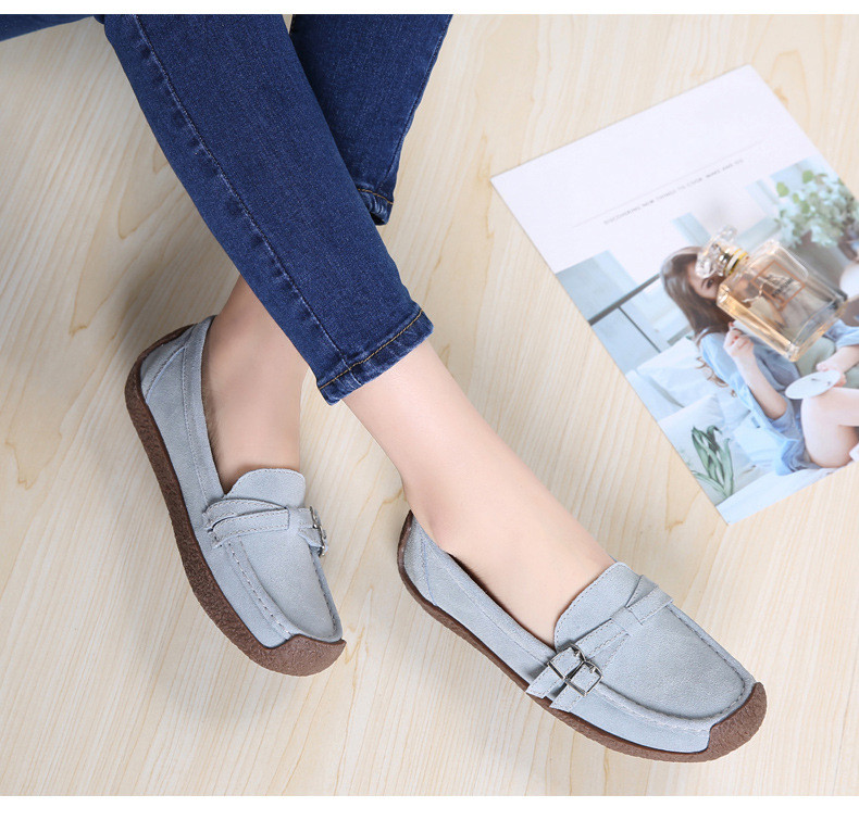 HX 7732-2019 Spring Autumn New Arrival Genuine Leather Women Flats Shoe-20