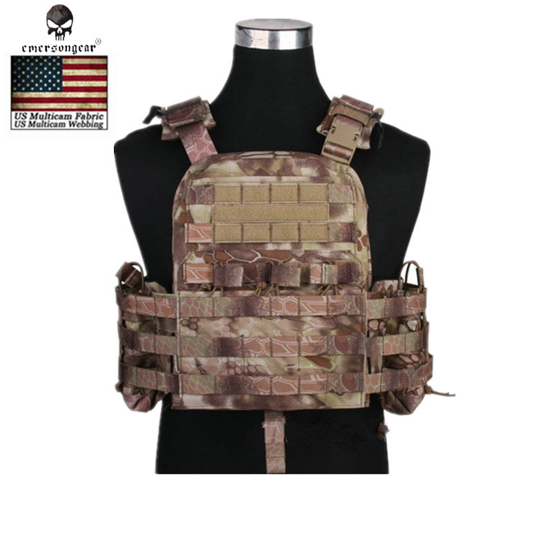 EMERSON Military Tactical Vest Airsoft Molle Combat Assault Plate Carrier Vest Outdoor CS Body Armor Hunting Shooting Vest