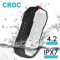 CRDC Bluetooth Speaker 4.2 Không Thấm Nước Xách Tay Ngoài Trời Không Dây Stereo Mini Cột Bass với Mic cho iPhone Xiaomi