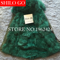 2017 New Women Winter Army Green & Black Thick Parkas Plus Size Real Raccoon Canada dark Wolf Fur Collar Hooded Out wear coat