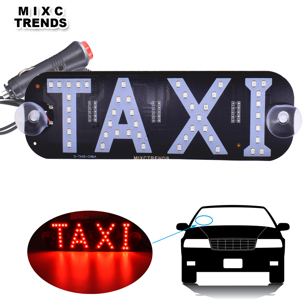 Taxi Windshield Sign Led Light for Uber Car Windscreen Cab Indicator Logo Lamp