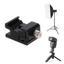 Горячий башмак Вспышка Кронштейн Стенд крепление адаптер триггер держатель камеры аксессуары