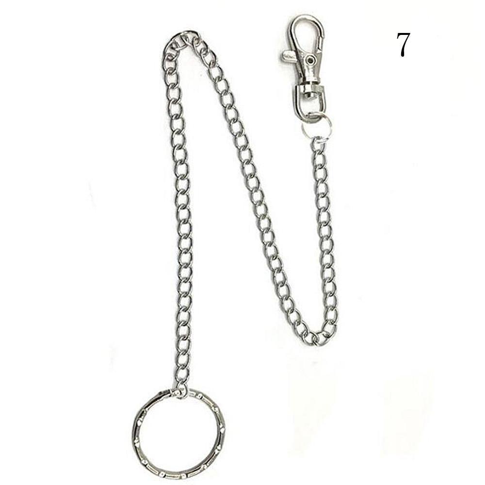 1-3 слоя рок-панк крюк брюк Брюки Пояс металлический кошелек серебряная цепь хип-хоп цепи ремни для женщин брюки аксессуары - Цвет: 9