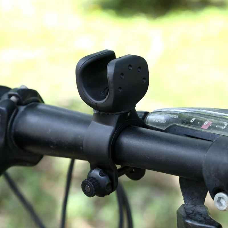 Einfach Rotation Swivel Fahrrad Montieren Rennrad Scheinwerfer Taschenlampe Kopf Licht Lampe Halter Halterung Clamp Clip Grip Schwarz