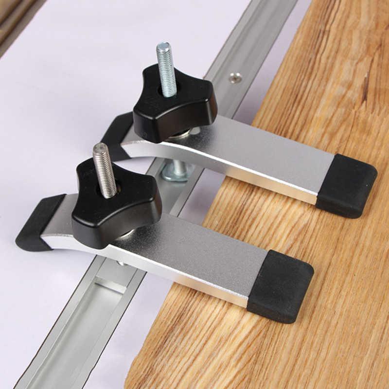 Новый Walfront зажим металлический быстро действующий удерживающий зажим набор для Т-образной дорожки деревообработки