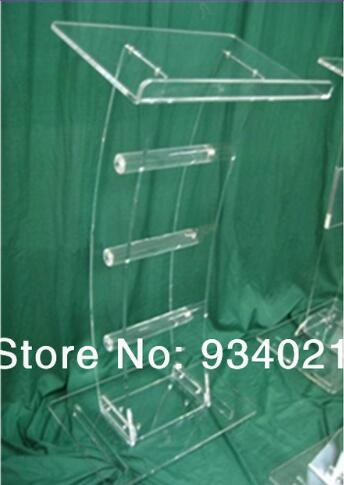 Free Shipping Transparent Acrylic Lectern Acrylic Classroom Lectern Podium / Acrylic Podium Table