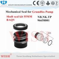Grundfos 96658801 kit de vedação BAQV 55mm eixo para selo mecânico da bomba Grundfos NB  NK  série TP
