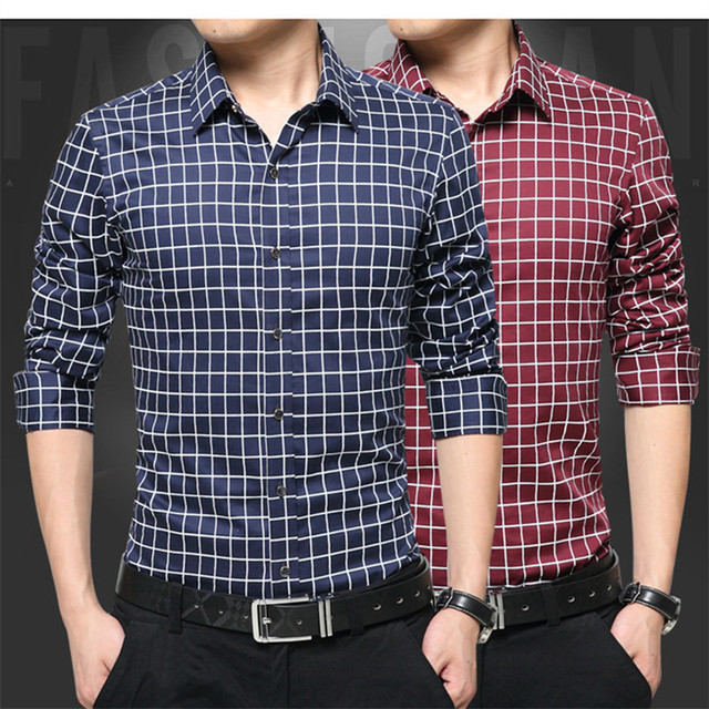d148efa613767 Casual Flannel Shirt Korean Men 5 Colors 2018 Oversize Clothing Fashion  Summer Business Shirts