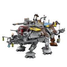 W MAGAZYNIE Darmowa wysyłka lepin 1022 Sztuk 2016 Nowy 05032 Star Wars AT-TE Kapitan Rex's Budulcem Cegły Zabawki kompatybilny 75157