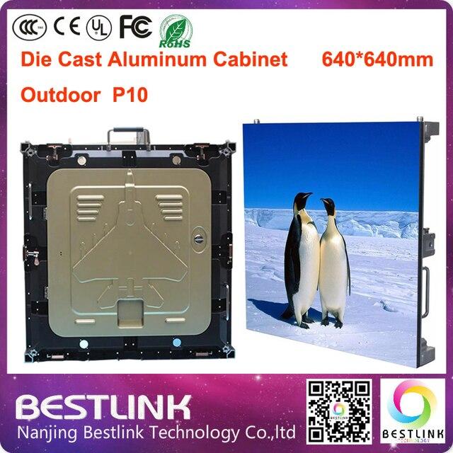 P10 открытый из светодиодов экран rgb из светодиодов жк-видео стены 640 * 640 мм литой алюминия кабинет большой размер из светодиодов экран рекламный щит